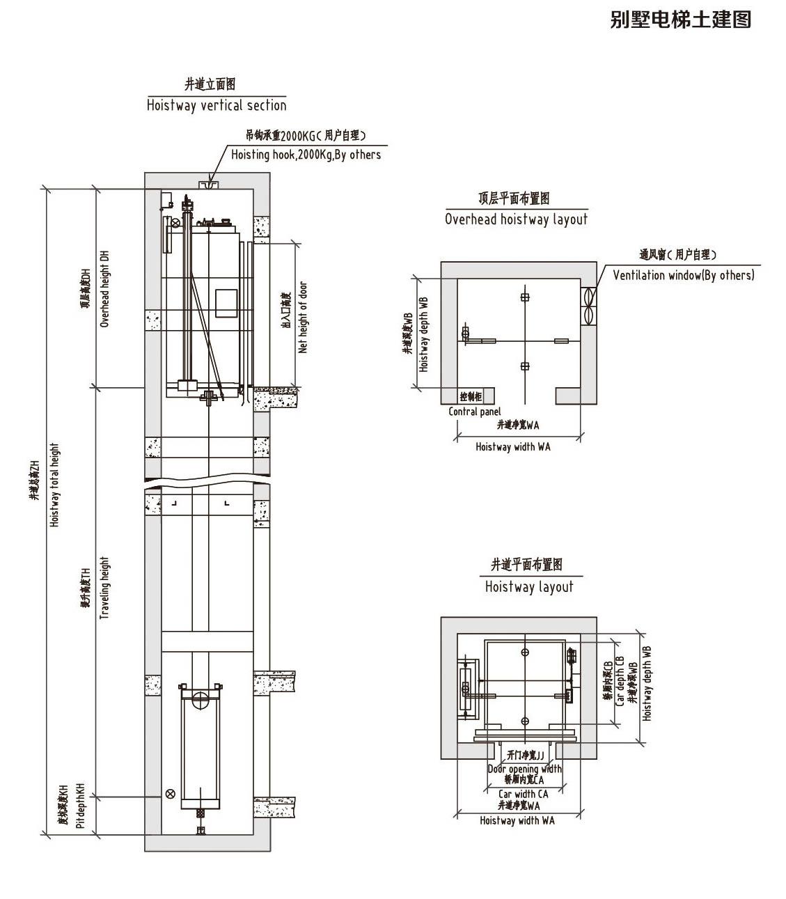 直电梯平面图素材